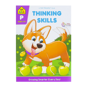 School Zone, Thinking Skills Deluxe Edition Workbook, Paperback, 64 Pages, Grades PreK-K