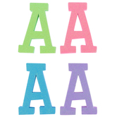 Glitter Foam Alphabet Letter Upper Case - A, 4 x 5.5 x .50 Inches, 1 Each, Assorted Colors
