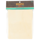 Woodpile Fun, Plywood Rectangles, 6 x 5 inches, Natural, 6 count