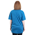 Matthew 17:20 Move Mountains (Spanish), Women's Short Sleeve T-shirt, Antique Sapphire, Small
