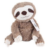 Warmies Cozy Plush Sloth, Microwavable, Lavender Scent, Gray, 13 inches