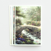 DaySpring, Thomas Kinkade Birthday for You Boxed Birthday Cards, 12 count