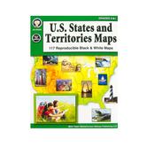 Carson Dellosa, U. S. States and Territories Maps Resource Book, Grades 5-8, Paperback