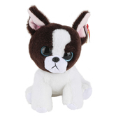 Ty Beanie Boos, Portia the Dog Stuffed Animal, Black and White, 6 inches