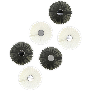 Schoolgirl Style, Simply Boho Black and White Fans Cut-Outs, 5.08 to 5.16 Inches, 36 Pieces