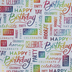 Brother Sister Design Studio, Happy Birthday Foil Gift Wrap Roll, 50 Square Feet