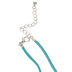 Glitter and Grace, Jesus Is My Jam Leather Cord Necklace, Blue/Silver, 16 inch Cord