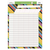 Patterned Stripes,  Customizable Incentive Chart, 17 x 22 Inches, Multi-Colored, 1 Piece