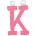 Glitter Foam Alphabet Letter Upper Case - K, 4 x 5.5 x .50 Inches, 1 Each, Assorted Colors
