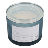 Winfield Home Decor, Calm Frosted Glass Jar Candle, Blue, 10 ounces, 4 1/4 x 3 1/2 inches