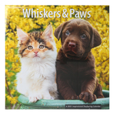 DaySpring, Whiskers & Paws 2021 Wall Calendar, High Quality Paper, 12 x 12 inches