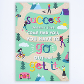 Renewing Minds, Success Doesn't Just Come Find You Motivational Poster, 13 x 19 Inches