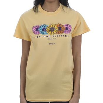 Kerusso, Ephesians 1:3 Beyond Blessed, Women's Short Sleeve T-shirt, Yellow Haze, S-3XL