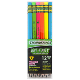 Dixon Ticonderoga, My First Ticonderoga Pencils, Neon Colors, 12 Pencils