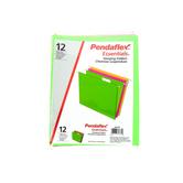 Pendaflex, Letter Size Hanging File Folders, Assorted Neon, 12 Pack