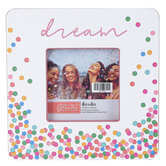 Green Tree Gallery, Dream Confetti Wood Tabletop Photo Frame, Pastel Polka Dots, 7.50 x 7.38 Inches