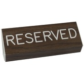 Reserved Pew Sign