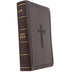 KJV Compact Large Print Bible, Imitation Leather, Dark Brown