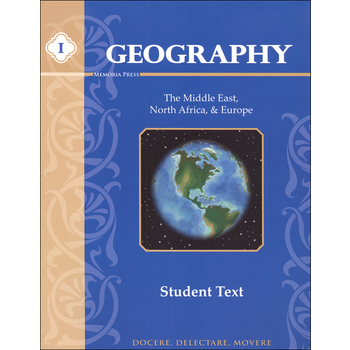Memoria Press, Geography 1 Middle East, North Africa, and Europe Teacher Guide, 139 Pages, Grades 4-7