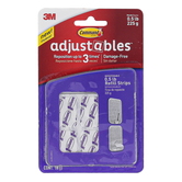 3M, Command Adjustables Repositionable Refill Strips, Set of 18