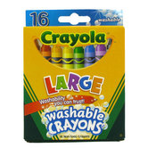 Crayola, Large Washable Crayons, 16 Count