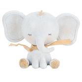 Sitting Elephant Figurine, Resin, Gray, 2 9/16 x 5 1/2 x 4 1/4 Inches