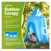 HearthSong, Outdoor Canopy with Lights, Blue, 6 1/4 x 2 Feet