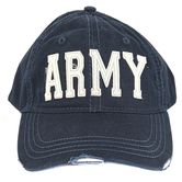 Operation Shockwave, Army Baseball Cap, Adjustable, Navy Blue and Cream, One Size