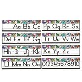 Schoolgirl Style, Woodland Whimsy Alphabet Line: Manuscript Mini Bulletin Board Set, Grades PK-2