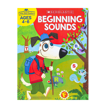 Evan-Moor, Learning Line Activity Book Beginning Sounds, 32 Pages, Grades K-1