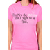 Red Letter 9, Philippians 1:6, I'm Not the Woman, Short Sleeve T-Shirt, Azalea Pink, Small