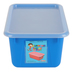 Storex, Small Cubby Bin With Clear Lid, Blue, 12.28 x 7.95 x 5.22 Inches, 2 Pieces