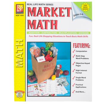 Remedia Publications, Menu Math Market Math, Paperback, 62-Pages, Grades 3-6