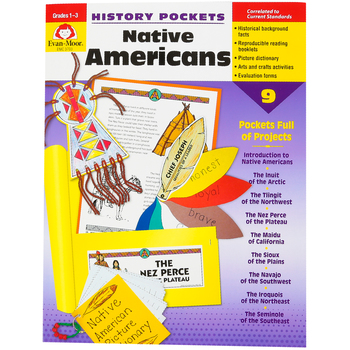 Evan-Moor, History Pockets Native Americans Teacher Reproducible, Paperback, 96 Pages, Grades 1-3