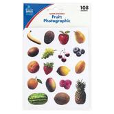 Carson-Dellosa, Photographic Fruit Shape Stickers, Multi-Colored, 108 Stickers