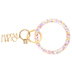Mary Square, Happy Confetti Bracelet Keyring, Acrylic, Multi-Colored, 7 3/4 x 3 3/4 inches