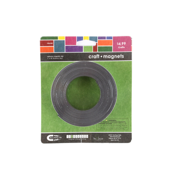 Tree House Studio, Adhesive Magnetic Tape, Black, 1 inch x 10 feet