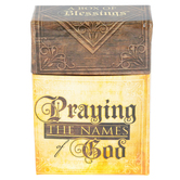 Christian Art Gifts, Praying the Names of God Prayer Cards, 2 1/2 x 1 x 3 3/4 inches, 50 cards