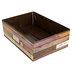 Teacher Created Resources, Reclaimed Wood Storage Bin, Brown, 5 x 16 x 11 inches