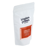 Kingdom Growers Coffee, French Vanilla Coffee Grounds, 12 ounces