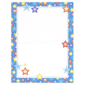 Renewing Minds, Stars Letterhead, 8.5 x 11 Inches, Multi-Colored, 50 Sheets