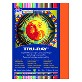Tru-Ray Sulphite Construction Paper, 9 x 12 inches, Orange, 50 Sheets