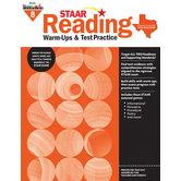 Newmark Learning, STAAR Reading Warm-Up and Test Practice: Grade 8, Paperback, 144 Pages