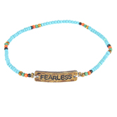 Natural Life, Fearless Giving Bracelet, Zinc Alloy and Beads, 5 Inches