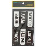 Salt & Light, Black and White Bold Words Magnetic Bookmarks, 6 Bookmarks