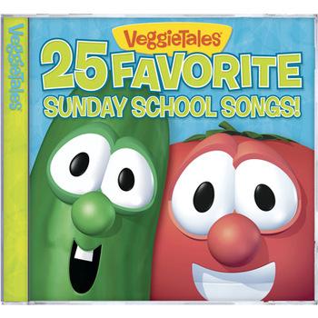 25 Favorite Sunday School Songs, by VeggieTales, CD
