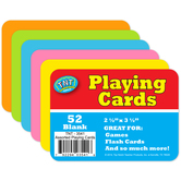 Blank Playing Cards, Assorted Colors, 52 Count