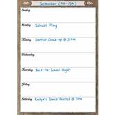 Teacher Created Resources, Clingy Thingies Home Sweet Classroom Weekly Schedule, 1 Piece, 17 x 22 Inches