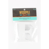 Woodpile Fun, Stand Alone Wood Letter - F, 3 inches, White