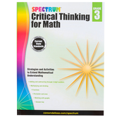 Spectrum, Critical Thinking for Math Workbook, 128 Pages, Grade 3